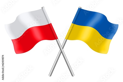 Flags: Poland and Ukraine