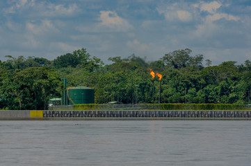 Oilfields in the Amazon, Yasuni area, Ecuador