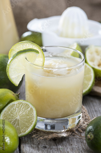 Glass with fresh made Lime Juice