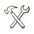 Wrench and screwdriver tools symbol.