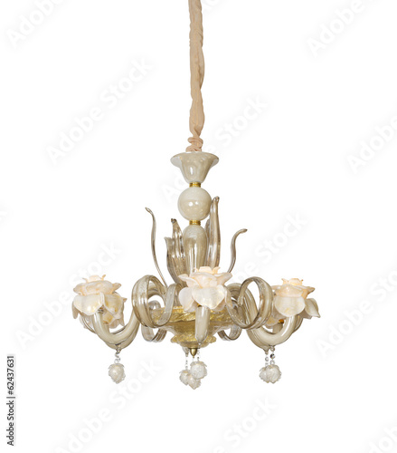 chandelier isolated on white background with clipping path