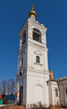 Bell tower (1904) of St. Michael Church in Zagornovo, Russia