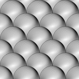 Design seamless uncolored volumetric sphere geometric lines patt