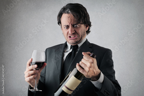 businessman with bottle