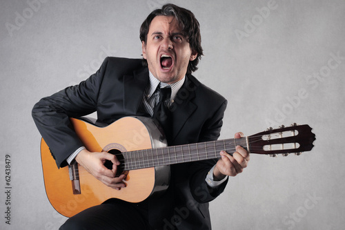 singing businessman