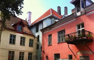 houses of old town in Tallinn