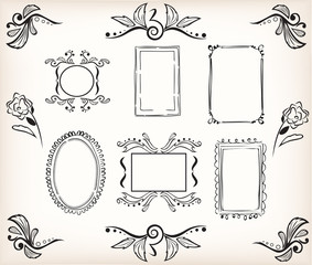 Calligraphic borders and frames