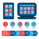 flat web and infographics elements