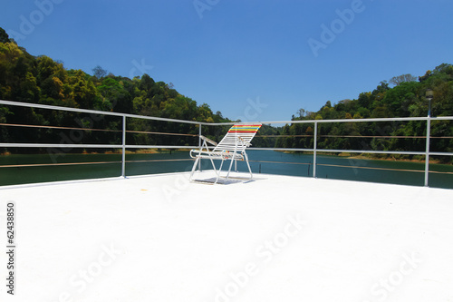Chair on top of houseboat