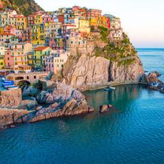 Sunset in Manarona, Cinque Terre, Italy