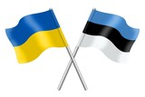 Flags: Ukraine and Estonia