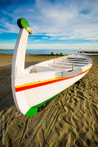 typical boat (jabega) in Malaga, Spain