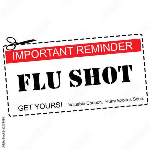 Flu Shot Reminder Coupon Concept