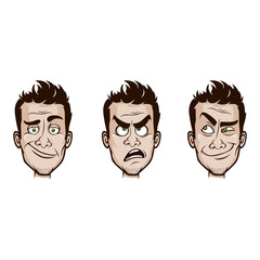Man Emotions Set