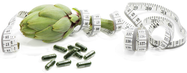 artichoke with dietary supplement