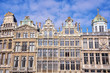 Facades of old buildings in Brussels
