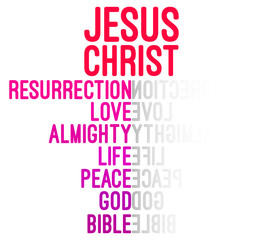Jesus Christ Word Cloud Concept Vector Illustration