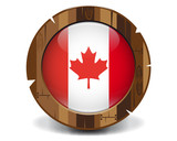 Canada wood button