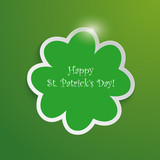 Green Shamrock Good St Patricks Day Background