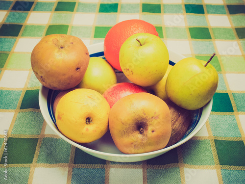 Retro look Fruits picture