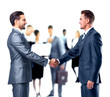 canvas print picture - Business people shaking hands