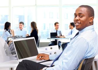 Portrait of a happy African American entrepreneur
