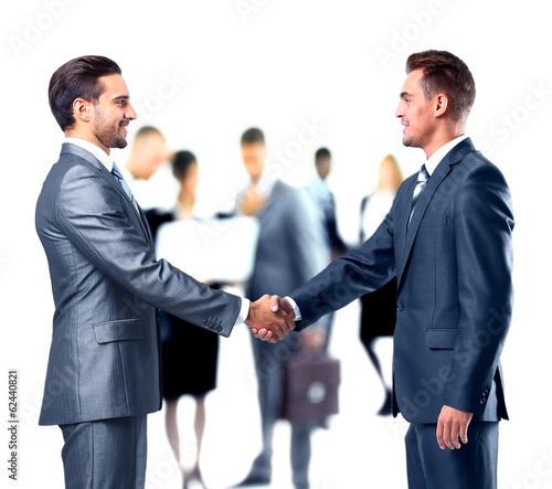 canvas print picture Business people shaking hands