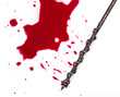 Blood on white background