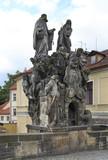 Statues of Saints John of Matha, Felix of Valois, and Ivan. Char poster