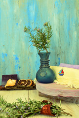 Aromatherapy rustic background