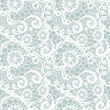 Lace seamless pattern with flowers on blue background