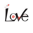 graphic word love