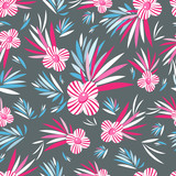 graphic pattern of flowers