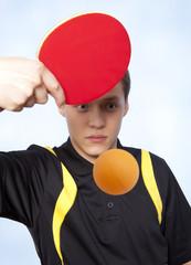 Man playing ping pong