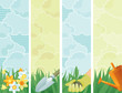 Vector banners of gardening at retro style