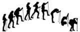 Vector silhouettes of people with walking bare.