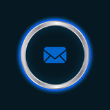 website email button, vector EPS10