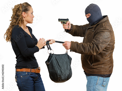 Isolated robbery scene