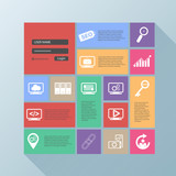 Flat design modern vector illustration of the SEO
