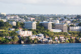 Modern Apartment Buildings on Coast of Martinique