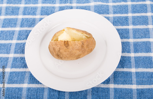 Hot Baked Potato with Butter