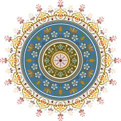 Garnished pattern, colorful vector design
