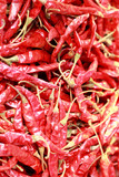 Close-up of dried red chilli.