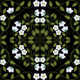 Abstract seamless floral pattern. Retro background