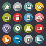 Home rental theme icon set