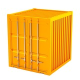 realistic 3d model of container