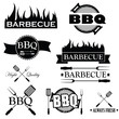 Set of bbq icons isolated on white background, vector - 62444839