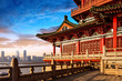 Leinwanddruck Bild - Chinese ancient architecture