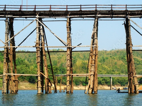 Mon Bridge at Kanjanaburi Thailand