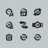 Hour icons